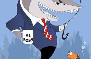Business shark is a good boss
